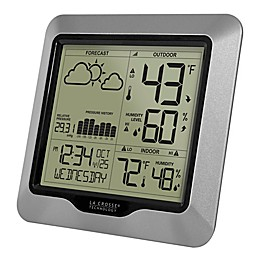 La Crosse Technology Weather Station Wall Clock with Atomic Time and Forecast
