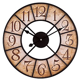 La Crosse Technology 16-Inch Round Wood Wall Clock in Brown