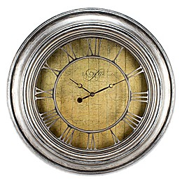 La Crosse Technology 24-Inch Round Plastic Wall Clock in Silver