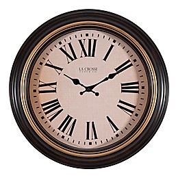 La Crosse Technology 18-Inch Plastic Wall Clock in Brown