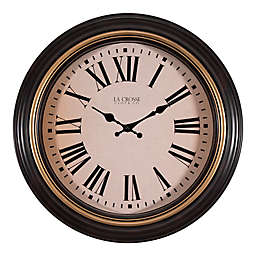 La Crosse Technology 18-Inch Plastic Wall Clock in Brown
