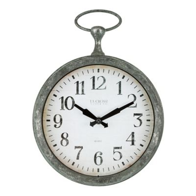 Stratton Home D Eacute Cor 11 75 Inch Small Antique Oval Wall Clock In Silver Bed Bath Beyond
