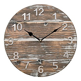 La Crosse Technology 12-Inch Round Wood Panel Clock