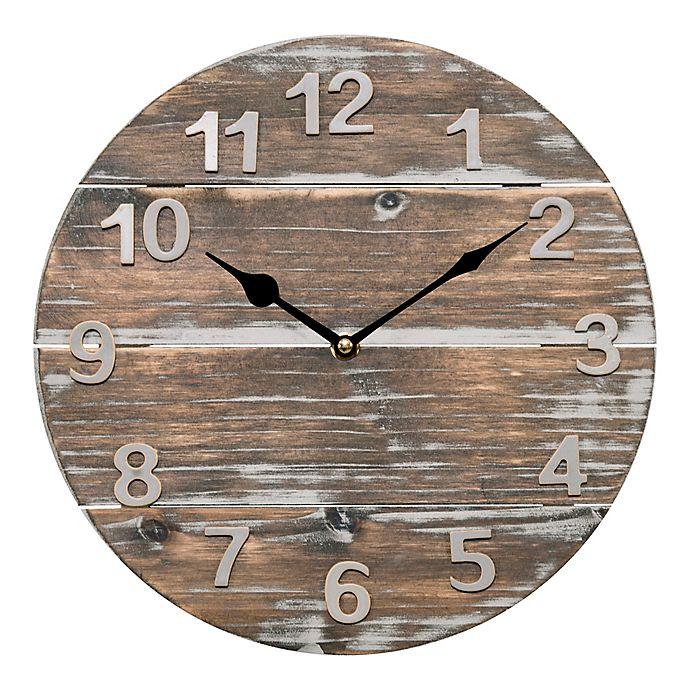 Alternate image 1 for La Crosse Technology 12-Inch Round Wood Panel Clock