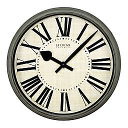 La Crosse Technology 14-Inch Round Plastic Wall Clock in Green