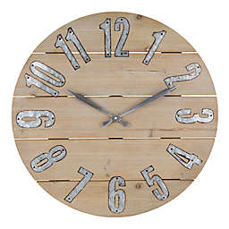 La Crosse Technology 23.5-Inch Wood and Metal Wall Clock