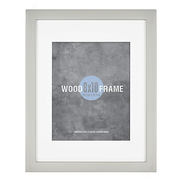 Alternate image 1 for Gallery 8-Inch x 10-Inch Wood Frame in Light Grey