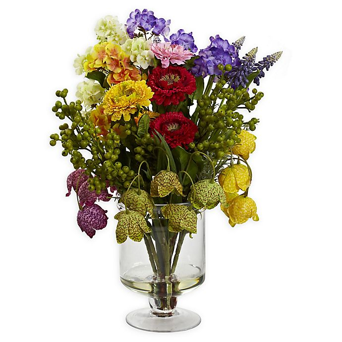 Alternate image 1 for Nearly Natural 16-Inch Spring Floral Arrangement
