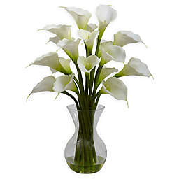Nearly Natural 26-Inch Artificial Galla Calla Lily with Vase