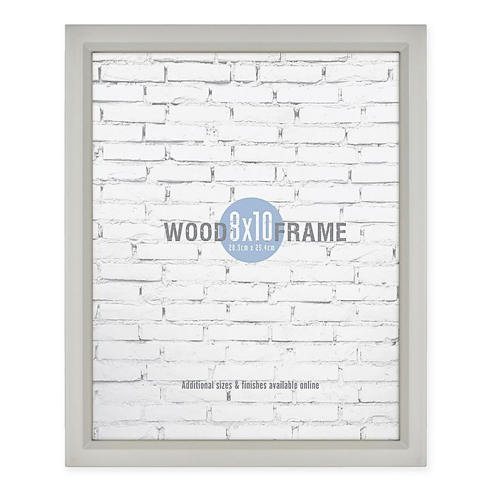 Alternate image 1 for Gallery 8-Inch x 10-Inch Wood Picture Frame in Light Grey