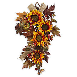 Artificial flowers silk flowers bed bath and beyond canada nearly natural 24 inch sunflower berry teardrop floral arrangement mightylinksfo