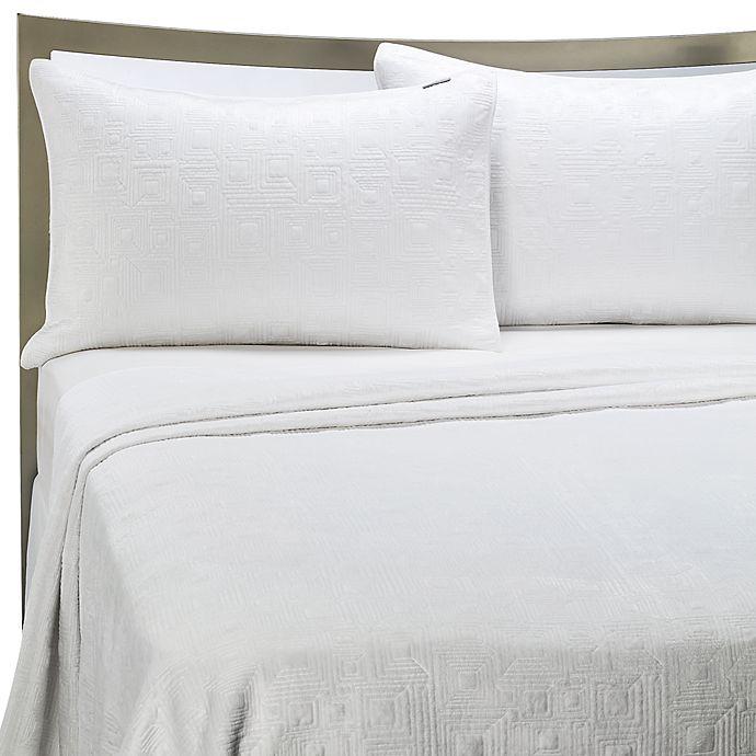 Alternate image 1 for KAS® White Squared Quilt