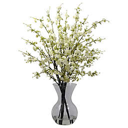 Nearly Natural 30-Inch Cherry Blossoms Artificial Arrangment with Glass Vase