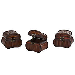 Nearly Natural Bamboo-Like Decorative Chests (Set of 3)