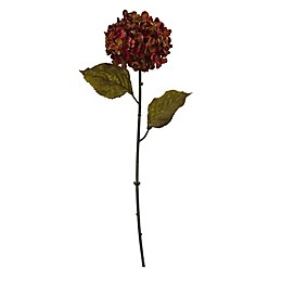 Nearly Natural 22-Inch Fall Hydrangea Stems in Rust (Set of 6)