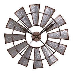 La Crosse Technology 22-Inch Metal Windmill Wall Clock