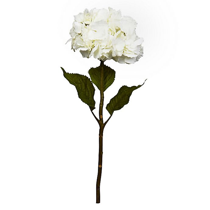 Alternate image 1 for Nearly Natural 28-Inch Artificial Hydrangea Flowers in White (Set of 3)