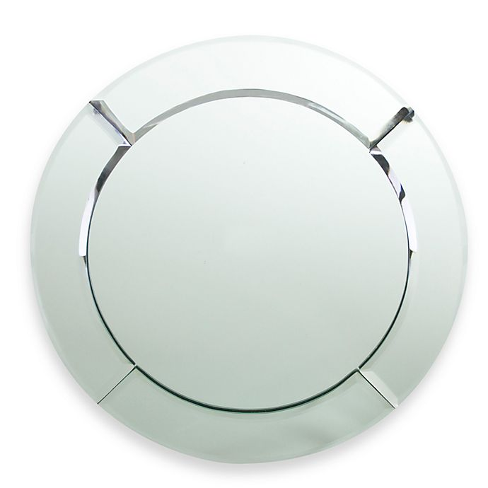 Alternate image 1 for ChargeIt! by Jay Round Mirror 13-Inch Charger in Chloe