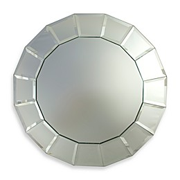 ChargeIt! by Jay Round Mirror 13-Inch Charger in Portico