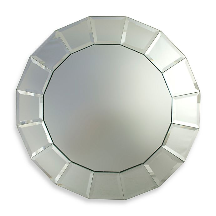 Alternate image 1 for ChargeIt! by Jay Round Mirror 13-Inch Charger in Portico