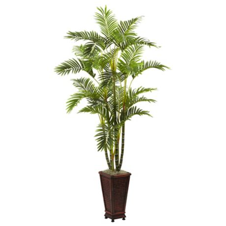 Nearly Natural 6 5 Foot Artificial Areca Palm Tree With
