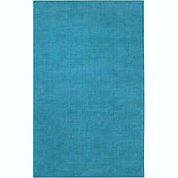 Surya Mystique Solid 6' x 9' Area Rug in Blue