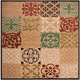 Surya Portera Patchwork Indoor/Outdoor Rug in Khaki