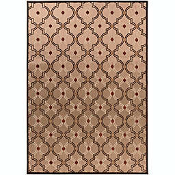 Surya Modern Ikat 7'10 x 10'8 Indoor/Outdoor Area Rug in Brown