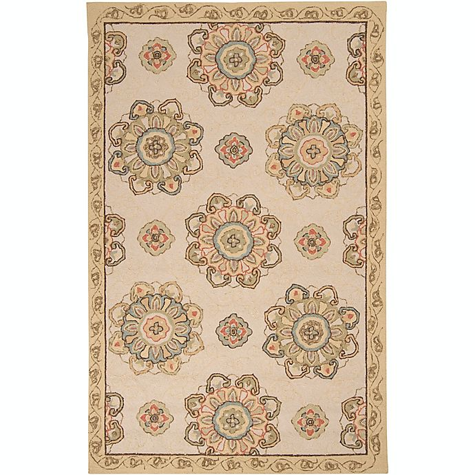 Alternate image 1 for Surya Rain Medallion 5' x 8' Hand-Hooked Indoor/Outdoor Area Rug in Brown