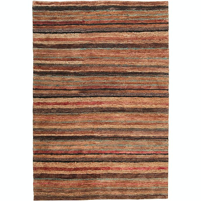 Alternate image 1 for Surya Trinidad Striped Natural Rug in Rust/Wheat