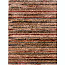 Surya Trinidad Striped Natural 8' x 11' Area Rug in Rust/Wheat