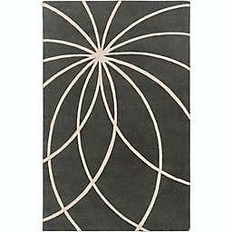 Surya Forum Modern 4' x 6' Area Rug in Charcoal