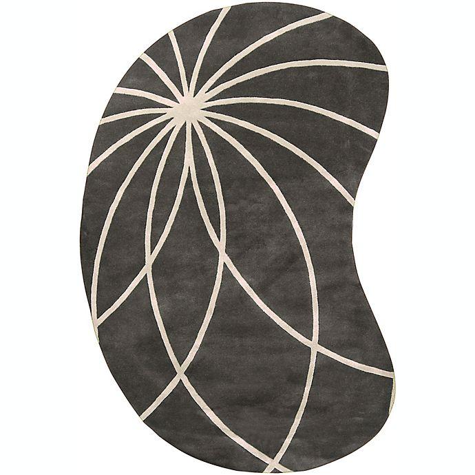 Alternate image 1 for Surya Forum Modern Kidney-Shaped Area Rug
