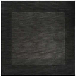 Surya Mystique 6' Square Handcrafted Area Rug in Grey/Black