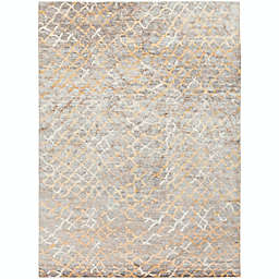 Surya Platinum Hand Knotted Rug in Grey