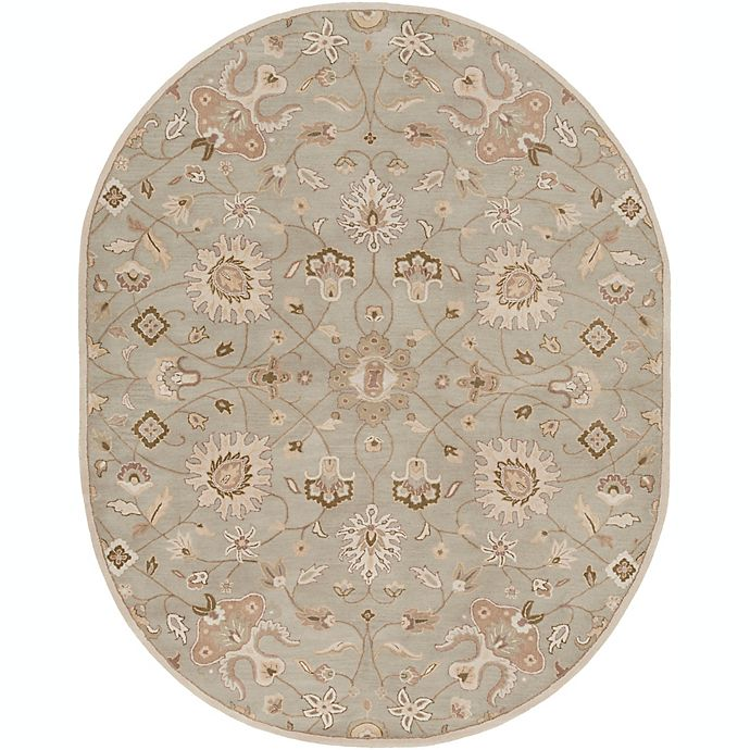 Alternate image 1 for Surya Caesar Vintage Ivy 8' x 10' Oval Area Rug in Grey/Wheat