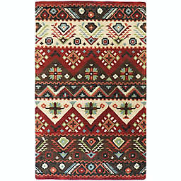 Surya Dream Southwest Handcrafted Rug in Red/Brown