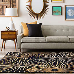 Surya Forum Starburst Rug in Black/Brown