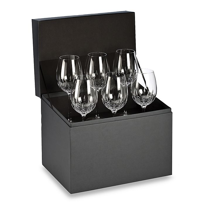Alternate image 1 for Waterford® Lismore Essence Goblet Deluxe Gift Box Buy 5 Get 6 Value Set