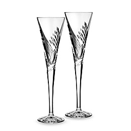 Waterford® Crystal Wishes Beginnings Toasting Flute (Set of 2)