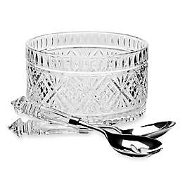 Godinger Dublin Crystal Salad Set with Servers