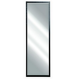 18-Inch x 54-Inch Leaner Floor Mirror in Antique Silver