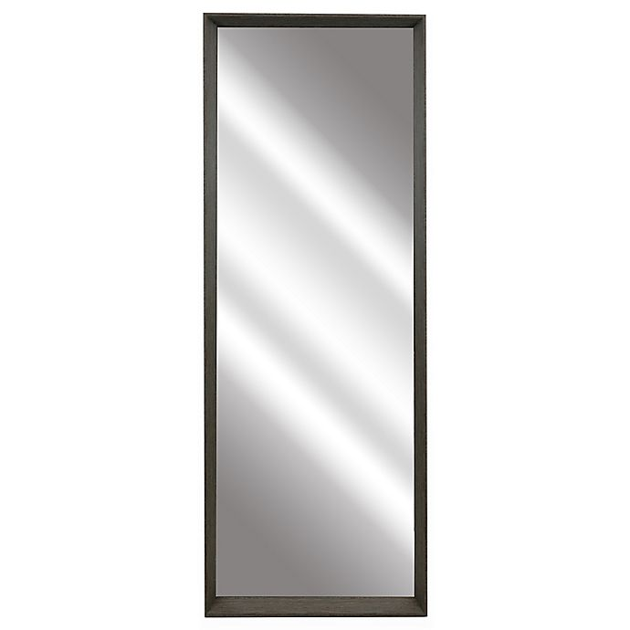 Alternate image 1 for 54-Inch x 18-Inch Rectangular Leaner Mirror in Brown