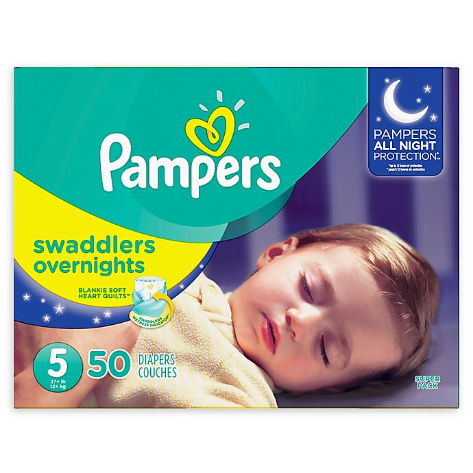 Alternate image 1 for Pampers® Swaddlers 50-Count Size 5 Overnights Disposable Diapers