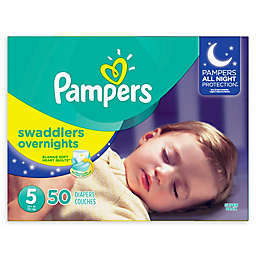 Pampers® Swaddlers 50-Count Size 5 Overnights Disposable Diapers
