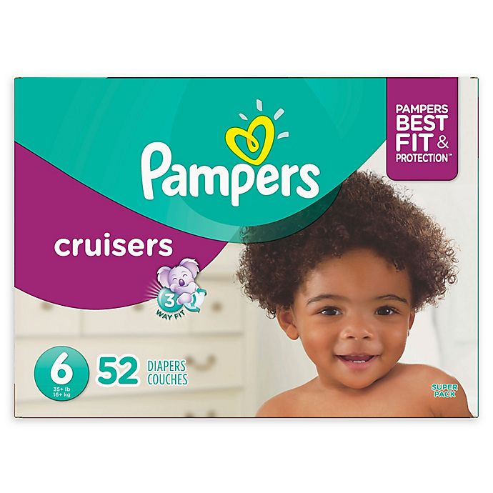 Alternate image 1 for Pampers® Cruisers 52-Count Size 6 Super Pack Diapers