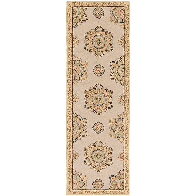 Alternate image 1 for Surya Rain Medallion 2'6 x 8' Hand-Hooked Indoor/Outdoor Runner in Brown
