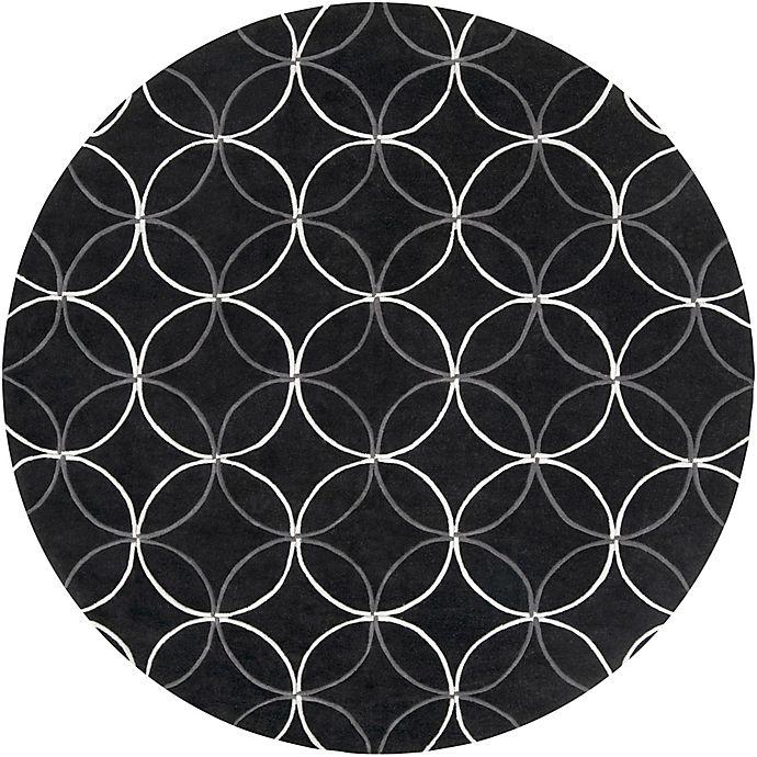 Alternate image 1 for Surya Cosmopolitan Modern 8' Round Area Rug in Black