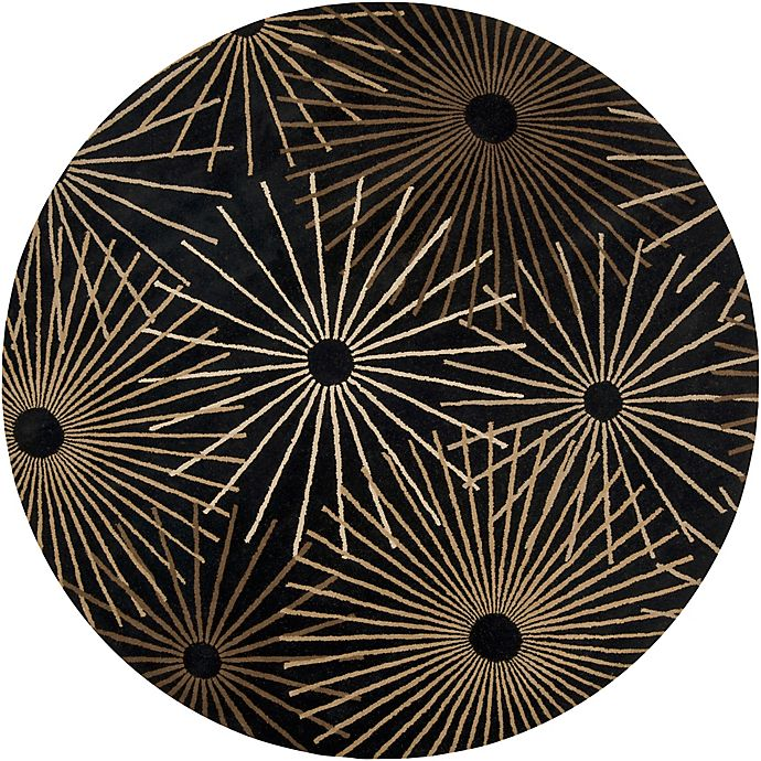 Alternate image 1 for Surya Forum Starburst 8' Round Area Rug in Black/Brown
