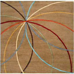 Surya Forum Modern 6' Square Area Rug in Tan